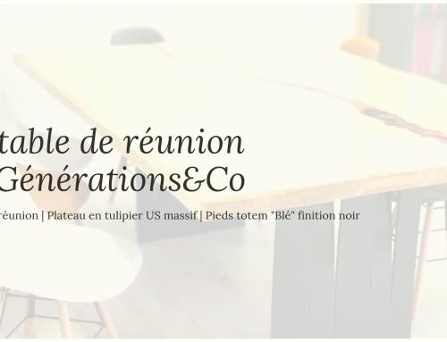 La table de réunion de Générations & Co